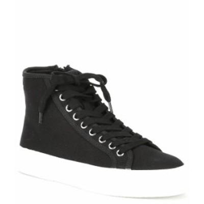 スティーブ マデン レディース スニーカー シューズ Chanced High Top Lace-Up Side Zip Sneakers Black