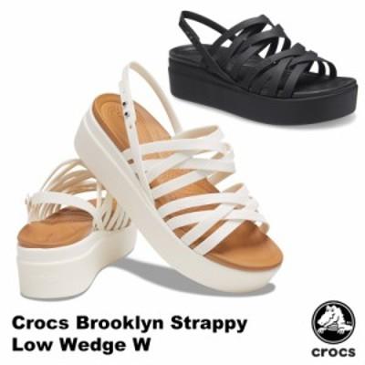 クロックス(CROCS) ブルックリン ストラッピー ロウ ウェッジ ウィメン( brooklyn atrappy low wedge w)  サンダル【女性用】 [BB]