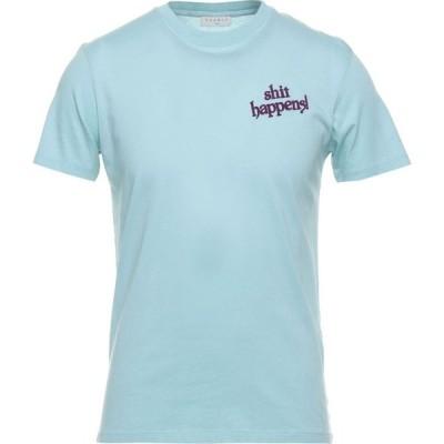 サンドロ SANDRO メンズ Tシャツ トップス T-Shirt Sky blue