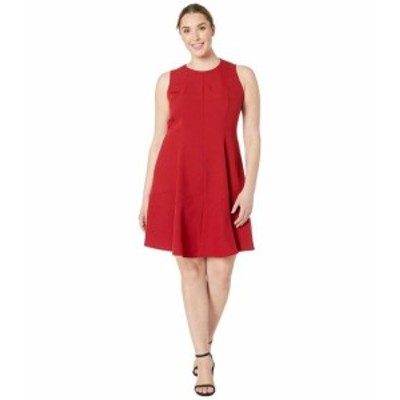 Anne Klein アンクライン ドレス 一般 Plus Size Crepe Seamed Fit & Flare Dress