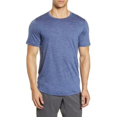 アイスブレーカー シャツ トップス メンズ Cool-Lite Sphere Runner's T-Shirt Estate Blue Heather