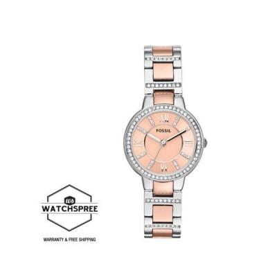 腕時計 フォッシル Fossil Ladies' Virginia Two-Tone Stainless Steel Watch ES3405