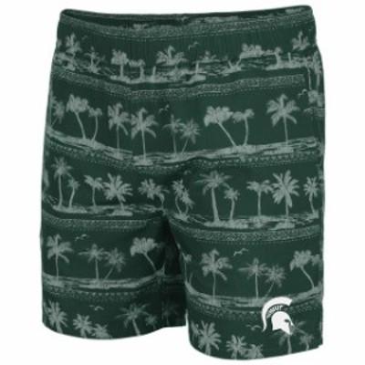 Colosseum コロセウム スポーツ用品  Colosseum Michigan State Spartans Green Maui Swim Shorts