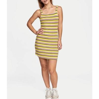 ルーカ レディース ワンピース トップス Nobody's Babe Sleeveless Striped Rib-Knit Sheath Dress