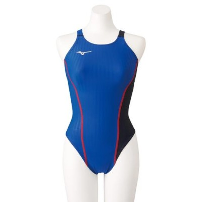 ミズノ 競泳練習用エクサースーツUP ミディアムカット[レディース] 27ブルー×ブラック S スイム 競泳水着 エクサースーツ(練習用水着) N2MA0760