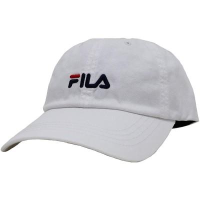 [フィラ]FILA キャップ ベーシック コットンツイル ロゴ刺繍 洗濯機洗い可能 ホワイト