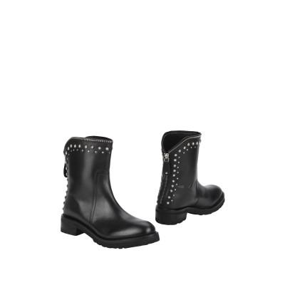 HADEL ショートブーツ ブラック 35 牛革(カーフ) 100% ショートブーツ