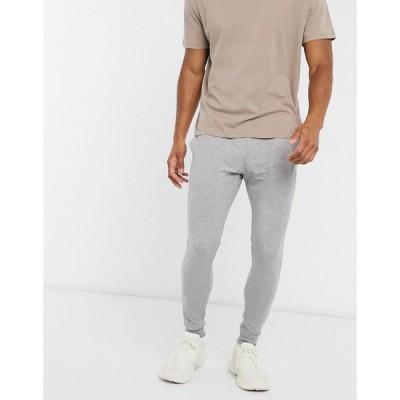エイソス スウェットパンツ メンズ ASOS DESIGN organic super skinny joggers in grey marl エイソス ASOS グレー 灰色