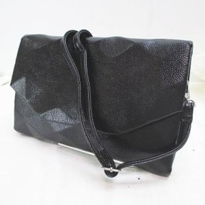 【中古】未使用品 ri 2way バッグ クラッチ ショルダー ブラック 黒 レディース