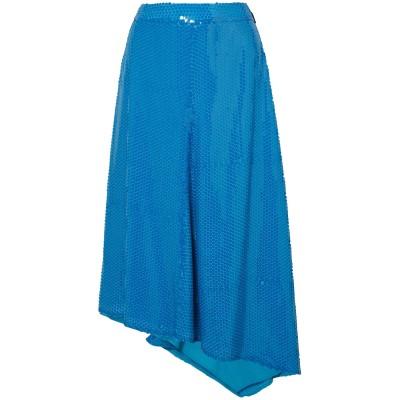 エムエスジーエム MSGM 7分丈スカート アジュールブルー 44 レーヨン 100% 7分丈スカート