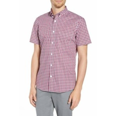 Nordstrom ノードストローム ファッション アウター Nordstrom NEW Red Mens Size Small S Check Pocket Button Down Shirt