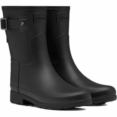 ハンター(HUNTER) オリジナル リファインド ショートブーツ ブラック WFS1098RMA 【レディース 長靴 雨具 レインシューズ 通勤通学】