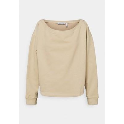 ヌー イン パーカー・スウェットシャツ レディース アウター OFF SHOULDER LOUNGE - Sweatshirt - beige