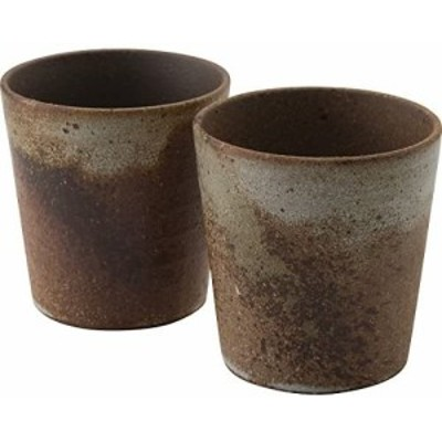 信楽焼 緑釉散し ペアロックカップ