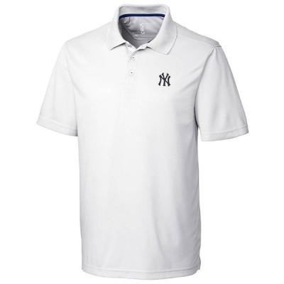 """メンズ ポロシャツ """"New York Yankees"""" CBUK by Cutter & Buck DryTec Fairwood Polo - White"""