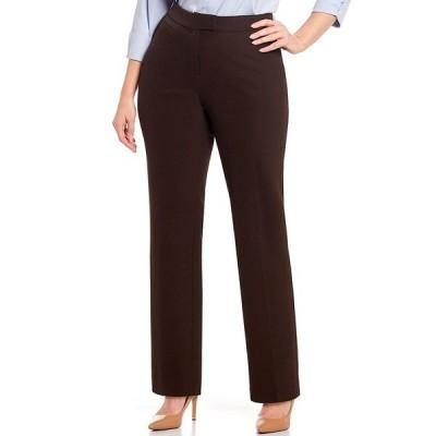 インベストメンツ レディース カジュアルパンツ ボトムス Plus Size the 5TH AVE fit Straight Leg Pants Coffee
