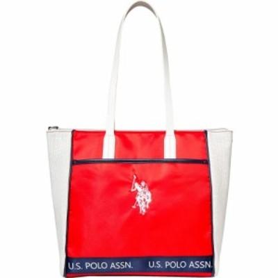 ユーエスポロアッスン U.S. POLO ASSN. レディース トートバッグ バッグ Perforated Nylon Sport Tote Red