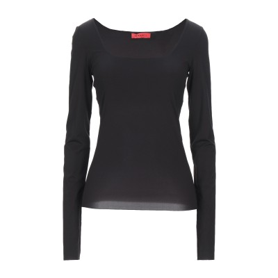 MAX & CO. T シャツ ブラック L ナイロン 80% / ポリウレタン 20% T シャツ