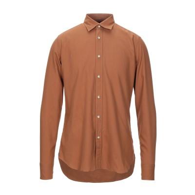 GUGLIELMINOTTI シャツ ブラウン 40 コットン 100% シャツ
