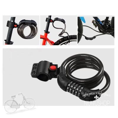バイク ダイヤル式ワイヤーロック 自転車用 ワイヤー鍵 ダイヤル式ワイヤー鍵 盗難防止 ピストロック ロック 鍵  バイクの鍵 ロードバイク ビアンキ