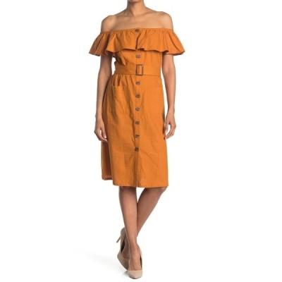 ティー・タハリ レディース ワンピース トップス Button-Down Dress GOLD SHORE