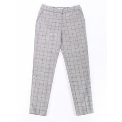 ASH アッシュ ファッション パンツ H&M NEW Ash Beige Womens Size 2 Stretch Houndstooth Dress Pants