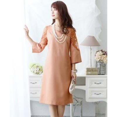 ドレス 結婚式ワンピースドレス袖ありとミニ丈シンプルチュール大きいサイズフォーマル