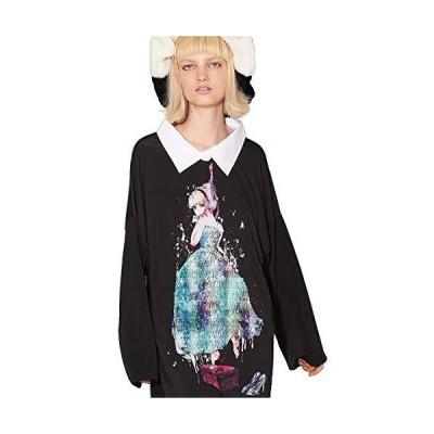 [アンコロック] 首つりシンデレラシャツ襟カットソー-メガビッグ 2020AW 首つりシンデレラ One Size