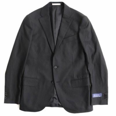 未使用品●ナノユニバース  NUD82SJK010HO TECH WOOL生地使用 シングル テーラードジャケット ブラック ストライプ 48 正規品