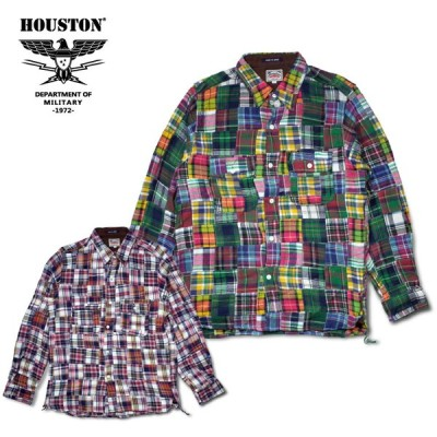 HOUSTON / ヒューストン 40486 CHECK FLANNEL PATCHWORK SHIRT/チェックフランネルパッチワークシャツ -全2色-