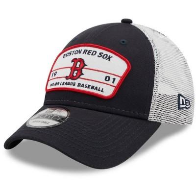 ボストン・レッドソックス New Era Team Loyalty Trucker 9FORTY Snapback キャップ - Navy