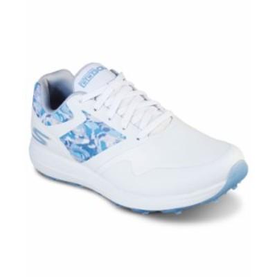 スケッチャーズ レディース スニーカー シューズ Women's GO GOLF Max - Draw Golf Sneakers from Finish Line White Blue