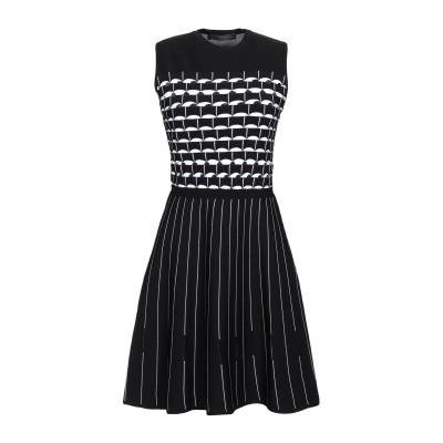 VERSACE ミニワンピース&ドレス ブラック 42 レーヨン 83% / ポリエステル 17% ミニワンピース&ドレス