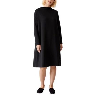 エイリーンフィッシャー レディース ワンピース トップス Long-Sleeve Shift Dress