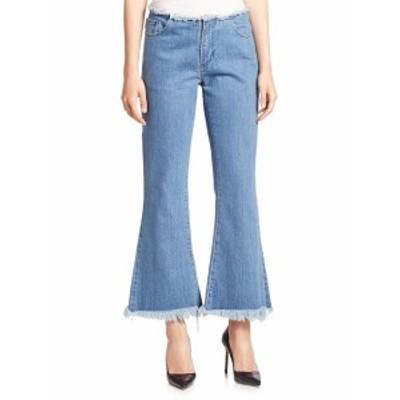 マルケスアルメイダ レディース パンツ デニム Frayed Cropped Flared Jeans