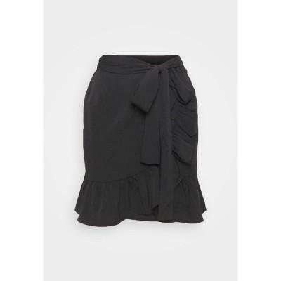 オンリー スカート レディース ボトムス ONLOLIVIA WRAP SKIRT - Wrap skirt - black