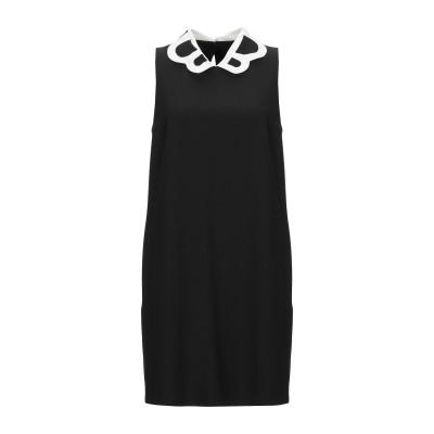 BOUTIQUE MOSCHINO ミニワンピース&ドレス ブラック 44 ポリエステル 92% / ポリウレタン 8% ミニワンピース&ドレス