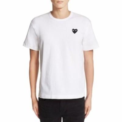 コム デ ギャルソン COMME DES GARCONS PLAY メンズ Tシャツ トップス Logo Slim Fit Graphic T-Shirt White