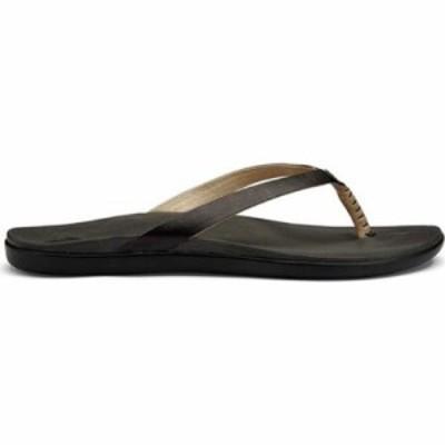 オルカイ ビーチサンダル Hoopio Leather Flip-Flop Onyx Leather