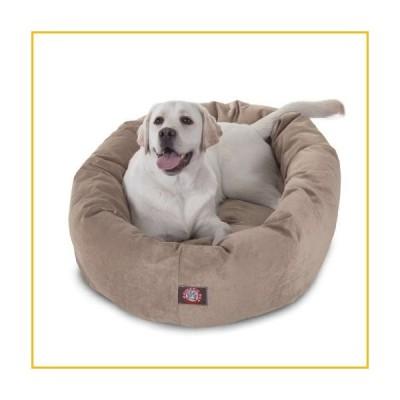 【☆送料無料☆新品・未使用品☆】40 inch Pearl Villa Collection Micro Velvet Bagel Dog Bed By Majestic Pet Products【並行輸入品