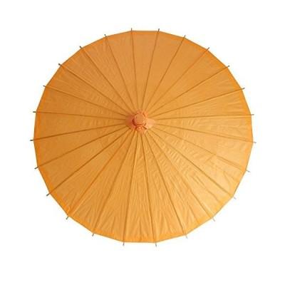 和傘 日傘 無地 直径84cm 山吹色