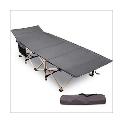 "REDCAMP Folding Camping Cots for Adults Heavy Duty, 28"" Wide Sturdy Portable Sleeping Cot for Camp Office Use, Gray[並行輸入品]"