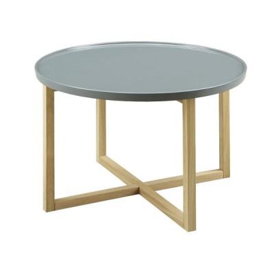 サイドテーブル 60cm丸 オーク シティ 60ティーテーブル C-63