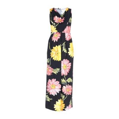 ANNA RACHELE ロングワンピース&ドレス ブラック 40 レーヨン 95% / ポリウレタン 5% ロングワンピース&ドレス