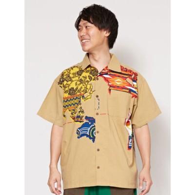 【チャイハネ】アトラスMEN'Sシャツ ベージュ
