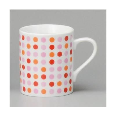 マグカップ 水玉ピンクマグ ラッピング無料 のし無料 日本製 美濃焼