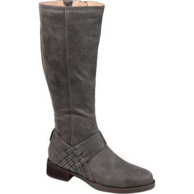ジュルネ コレクション Journee Collection レディース ブーツ ロングブーツ シューズ・靴 Meg Wide Calf Knee High Boot Grey Faux Suede