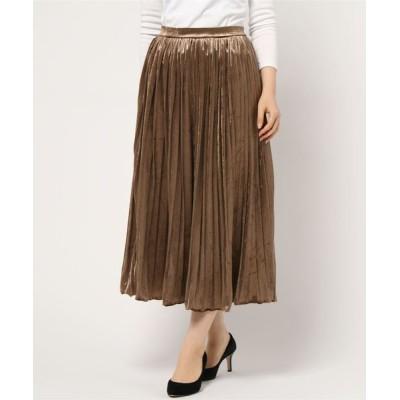 スカート ☆ ベロアプリーツスカート