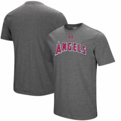 Under Armour アンダー アーマー スポーツ用品  Under Armour Los Angeles Angels Heathered Gray Passion Road Team Font T-Shirt