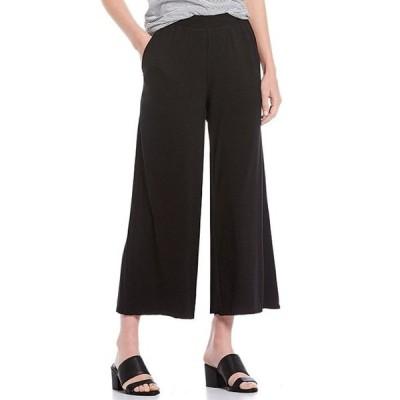 エイリーンフィッシャー レディース カジュアルパンツ ボトムス Fine Tencel Jersey With Pockets Wide Ankle Pant